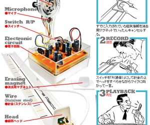 Wire Recorder Lets You Record Your Voice on Random Metal Surfaces