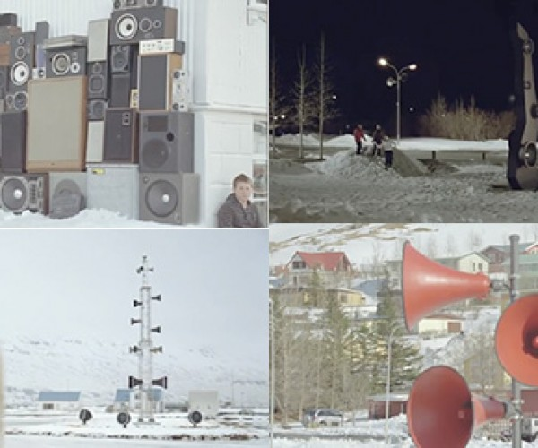 Sony Soundville Ad Fills Icelandic Town With Speakers & Music, Serenades Citizens & Sheep