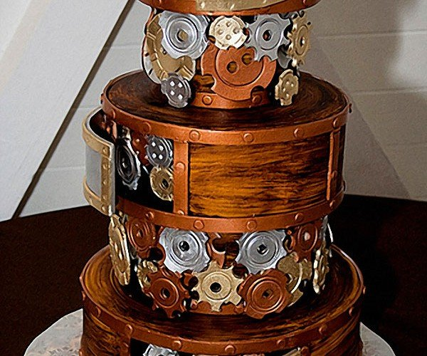 It's a Nice Day for a Steampunk Wedding Cake