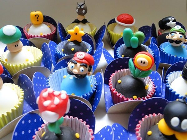 super mario fondant chocolates