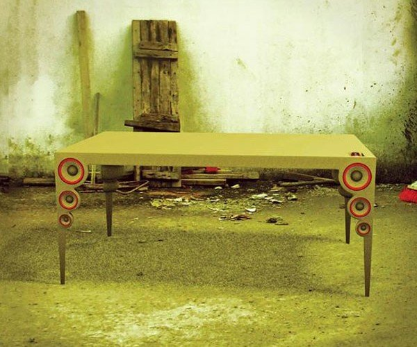 Table of Sound Integrates Speakers Into Its Legs