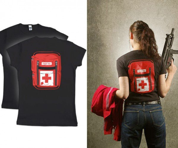 Prepare for the Zombie Apocalypse With First Aid Pack Tee