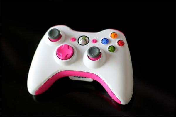 custom paint pink xbox 360