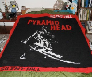 Silent Hill's Pyramid Head on a Nightmare Blanket