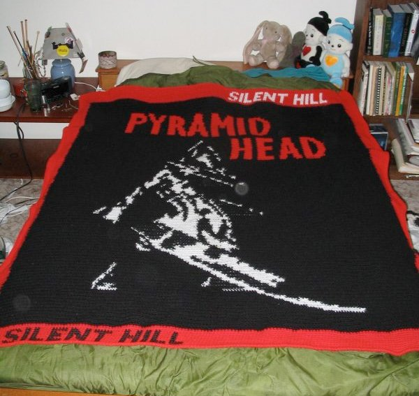 silent hill crochet blanket
