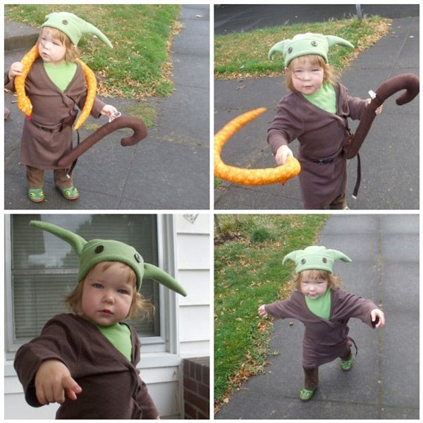 Baby Yoda Halloween Costumes Baby Yoda Costume is a Tricky