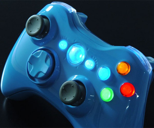 Xbox 360 Controller Sings the Blues in the Xcm Blue Blood
