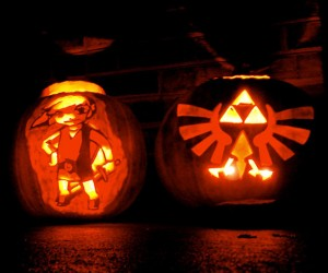 Zelda Link and Triforce Pumpkins Grown Only in Hyrule
