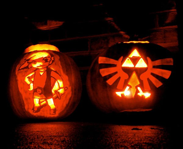 zelda link triforce pumpkins