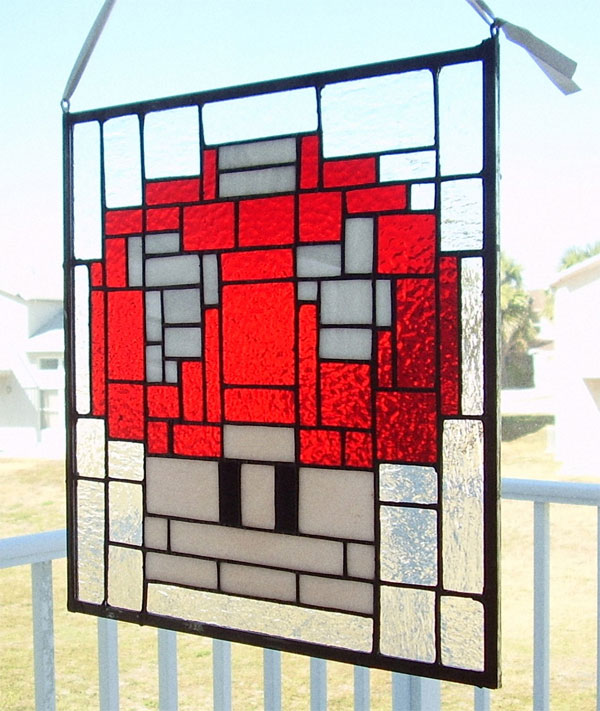 1 up mushroom stained glass