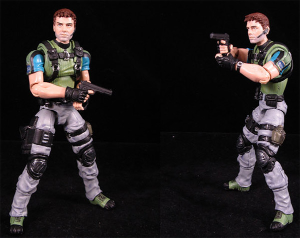 Chris Redfield RE 5 custom action figure