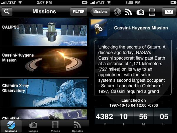 NASA iPhone app 1