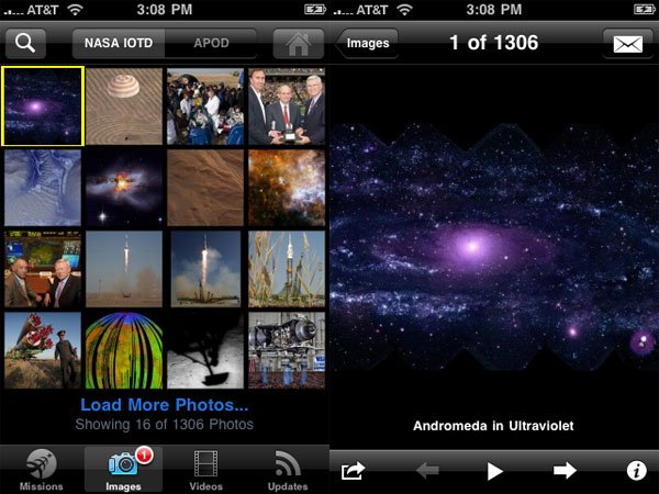 NASA iPhone app 2