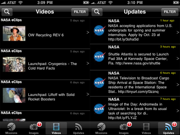 NASA iPhone app 3