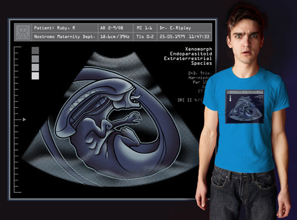 alien sonogram t shirt 2