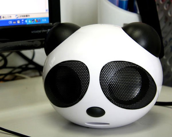 big panda head speaker