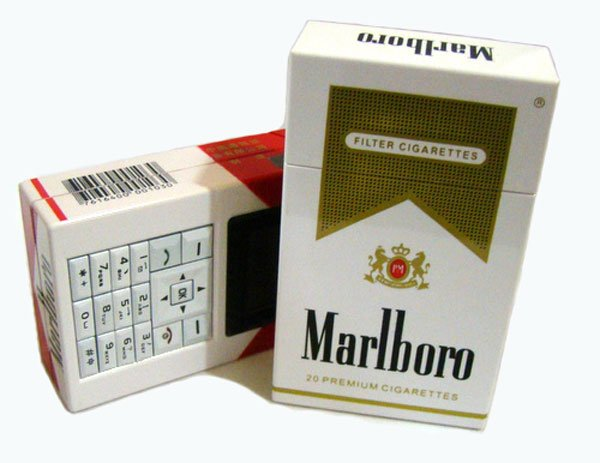 cigarette box cell phone