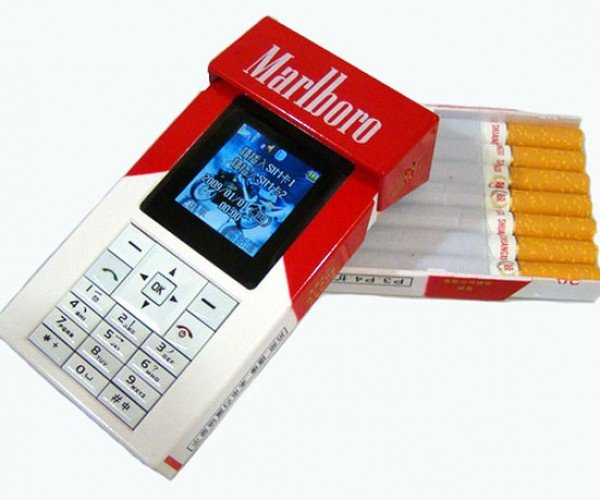 Cigarette Pack Mobile Phone: Smoke 'Em if You Got 'Em