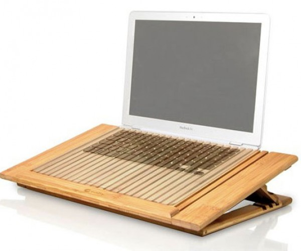 Ecofan Bamboo Cooling Stands: Cool Your Laptop With Wood