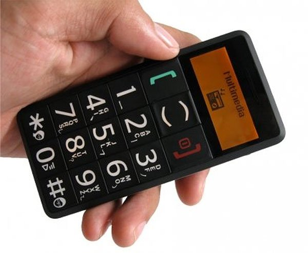giant button cell phone