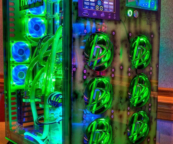 Glowing Gaming Pc for a Good Cause [Casemod]