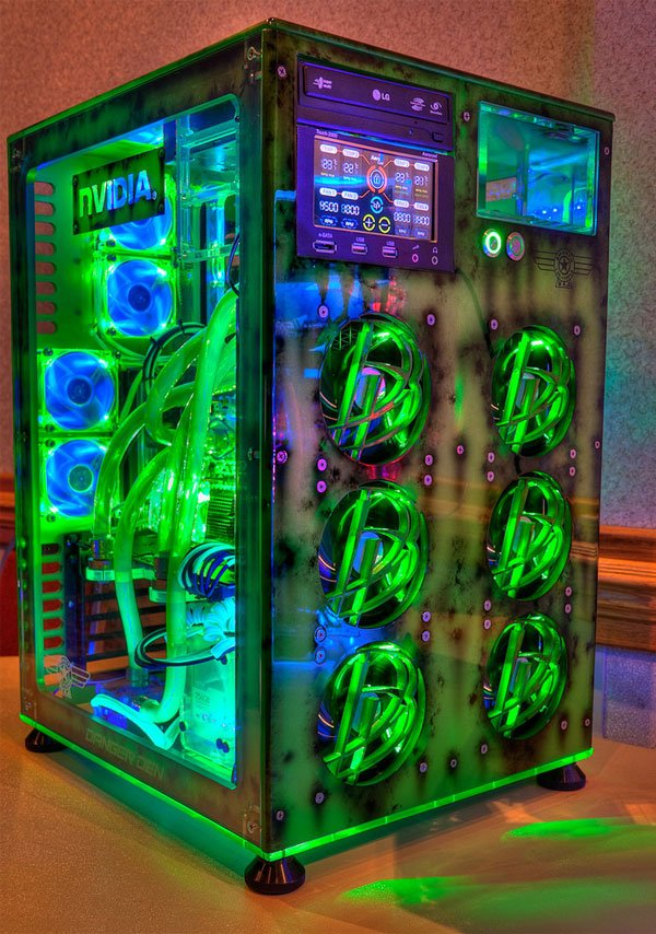 glowing nvidia casemod
