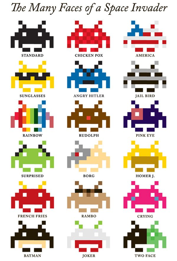 many_faces_space_invader