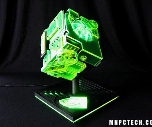 Nvidia Ion Cube Pc Looks Like a Green Allspark