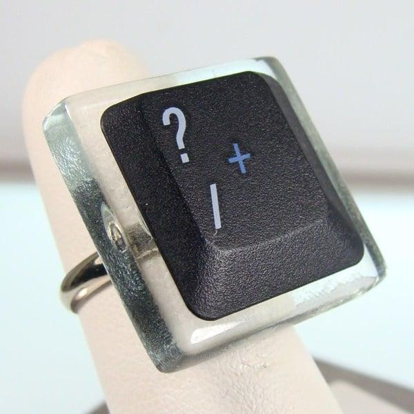 question mark key ring