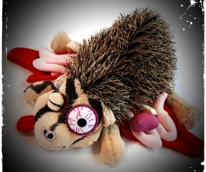 roadkill plush hedgehog 300x250