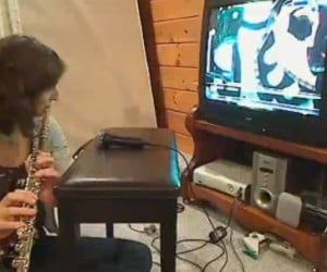 Woman Flaunts Her Flute Skills on Rock Band