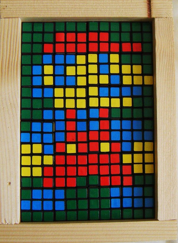 rubiks cube mario by john quigley