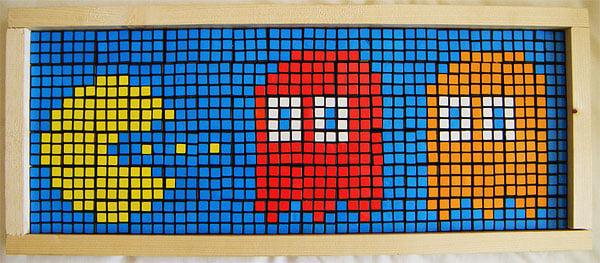 rubiks cube pac man by john quigley