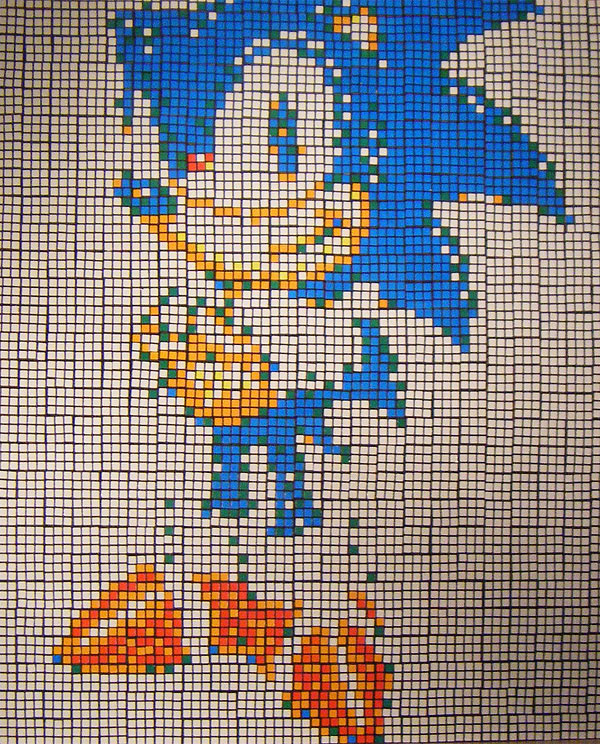 rubiks cube sonic by john quigley