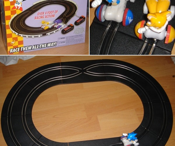 Sonic the Hedgehog Slot Car Racing System has No Loop De Loops
