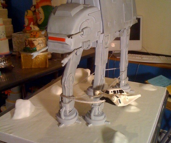 Empire Strikes Back at-at Cake 4