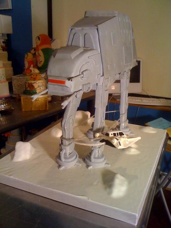 Empire Strikes Back at-at Cake 4
