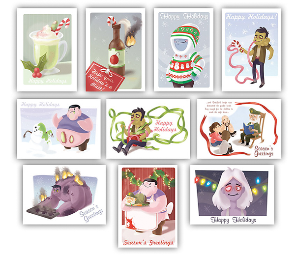 valve christmas cards xmas left 4 dead