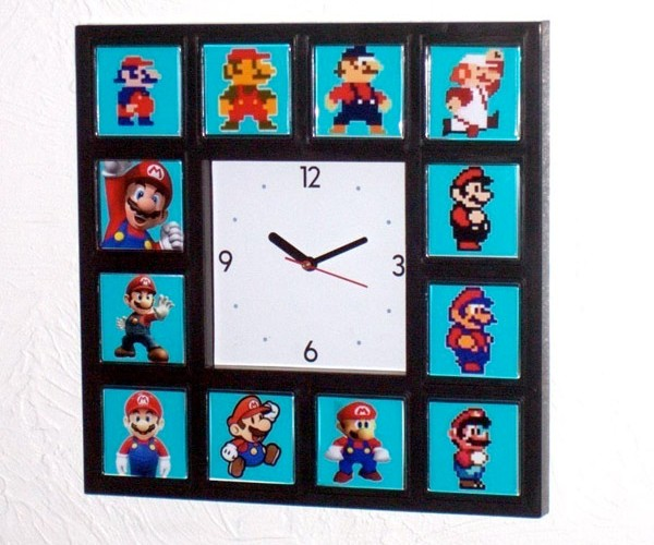 Mario Through Time, in Convenient (and Sorta Ironic) Clock Form
