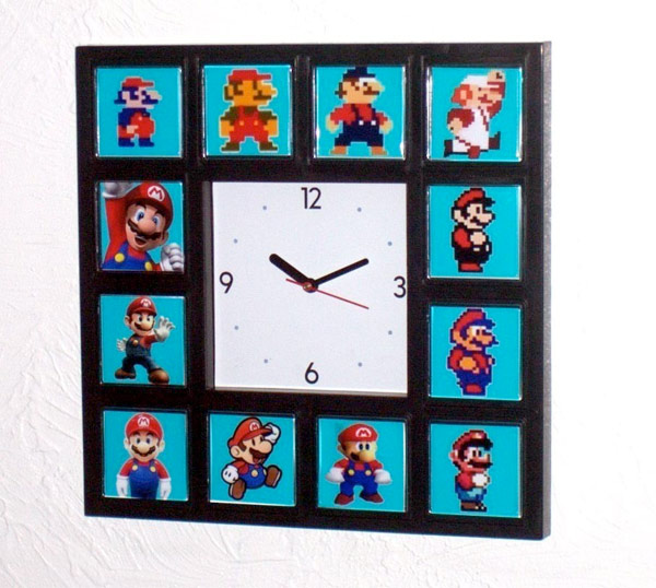 handmade mario clock