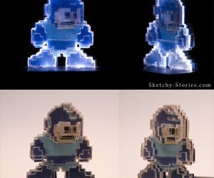This is a Tribute: LED Mega Man