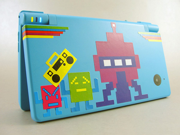 nintendo dsi mooninites stickers