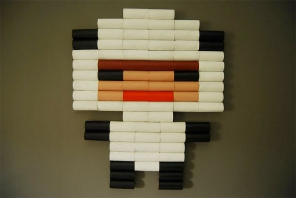 toilet paper roll pixel art