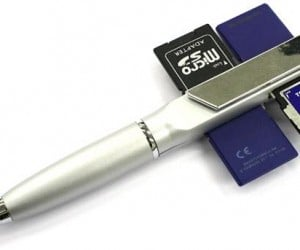 Thanko Four Sd Slot Pen: a Pen That Can Write and Read!