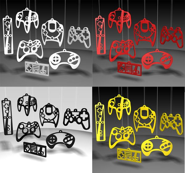video game controller ornaments 3