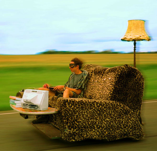 worlds wackiest racers sofa