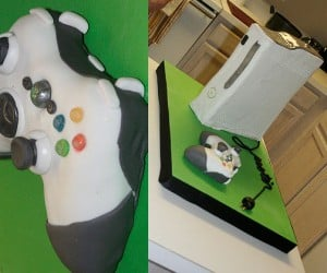 Xbox 360 Cake Works in Vertical Mode With No Red Rings of Death