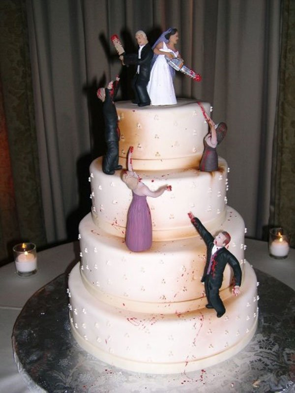 zombie infested wedding cake 1