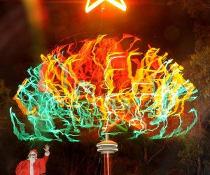 Tesla Coil Christmas Tree: Let's Hope It Doesn't Electrocute Santa