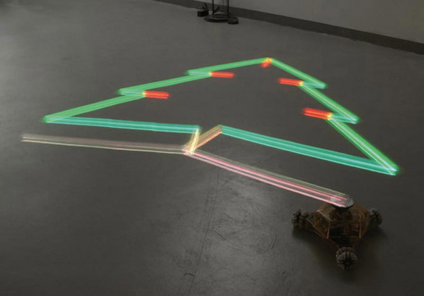 light drawing robot working its magic